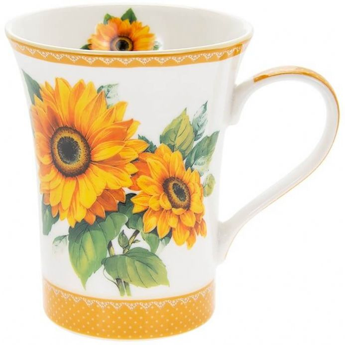 Sunflower Fine China Mug